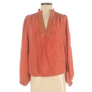 Winter Kate Long Sleeve Silk Top Size S